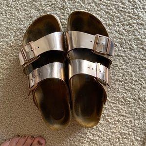 Birkenstock Shoes - Rose gold Birkenstock's - Arizona soft